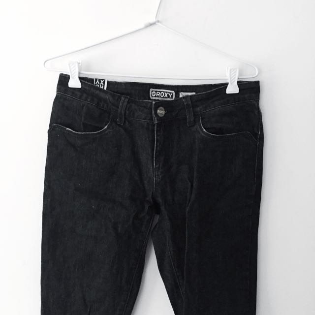 Black Super Skinny Denim Jeans