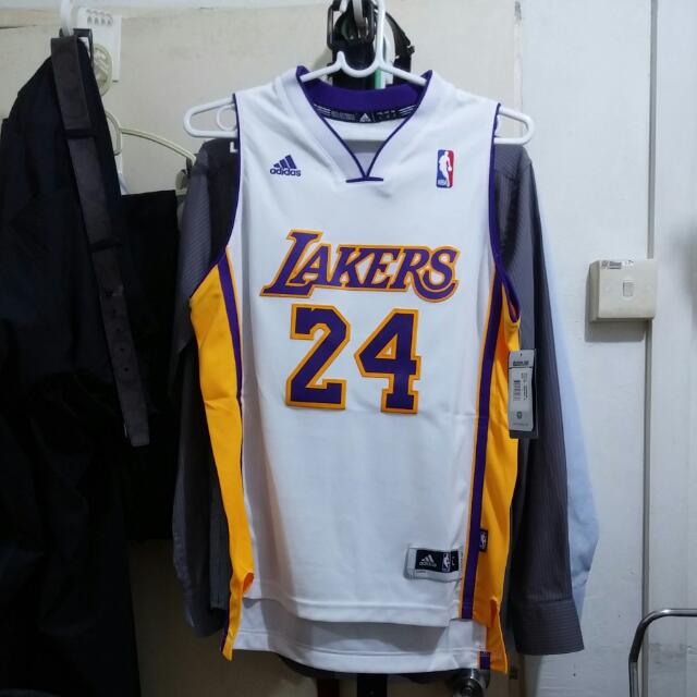 f92fef9860c0 Brand New Youth Los Angeles Lakers Kobe Bryant adidas White Swingman ...