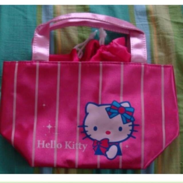 Hello Kitty 粉紅小提袋 手提包