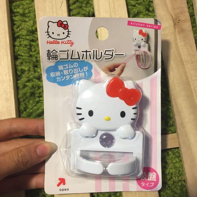 Hello Kitty 吸盤 橡皮圈 掛勾
