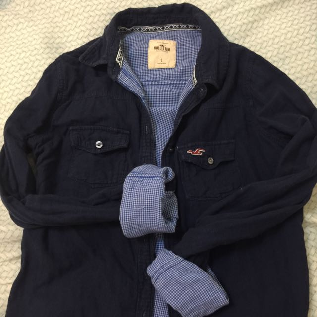 Hollister 藍色襯衫(已保留待匯)