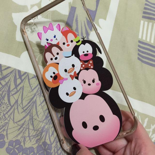 I Phone 6plus 5.5 Tsum Tsum Disney 金屬邊框 手機殼
