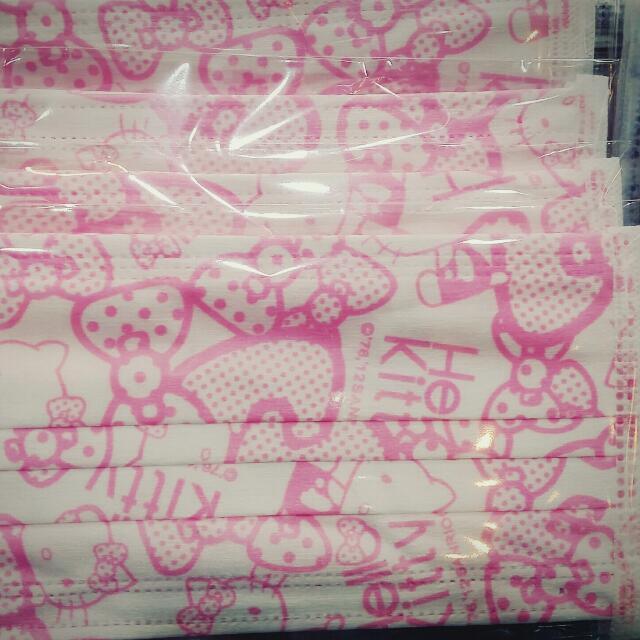 🎀粉嫩粉嫩kitty口罩15片