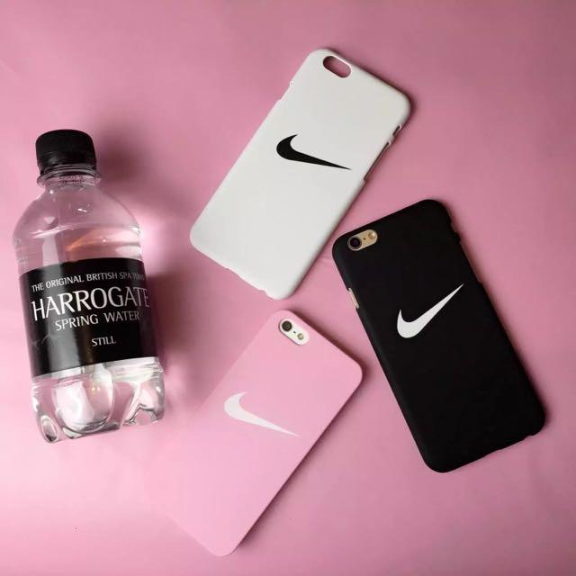 Nike黑白粉 iPhone 6/6s 手機殼 磨砂硬殼