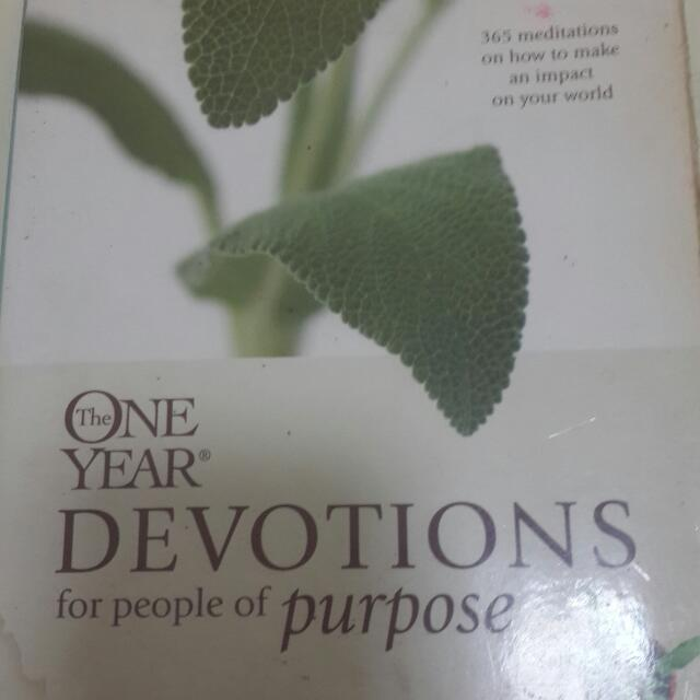 One Year Devotions For People with purpose