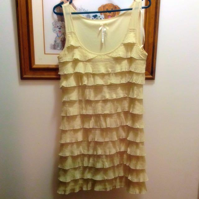 Ruffle Cream Dress