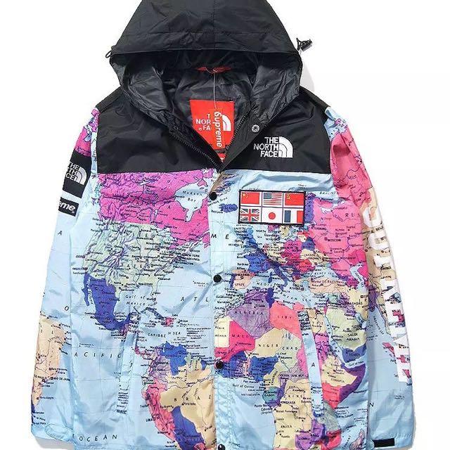 78b69a5dd Supreme X TNF The Map Jacket