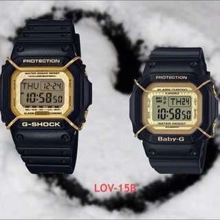 G-Shock X BABY-G 2015情人對錶