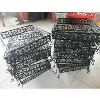*Reserved* 6 Black Trays For Hantaran/Gubahan For Sale
