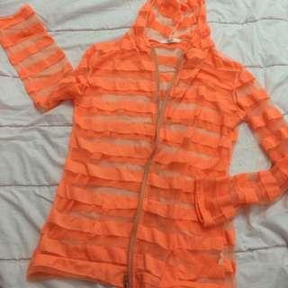 半透明條紋外套