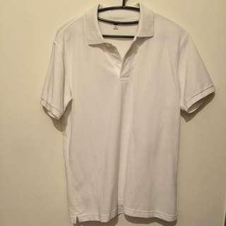 UINQLO 白POLO衫 (M) 近全新 (免運費)