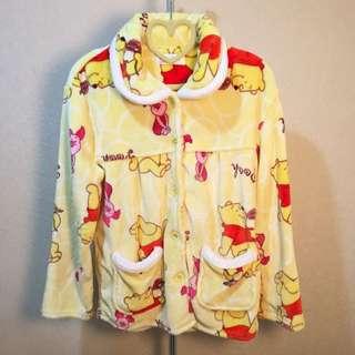 迪士尼小熊維尼珊瑚絨睡衣套裝