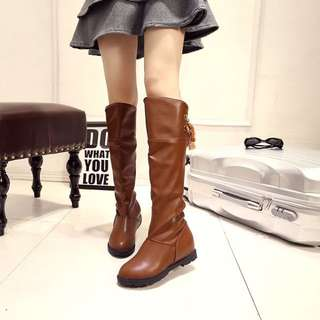 韓系過膝長筒靴