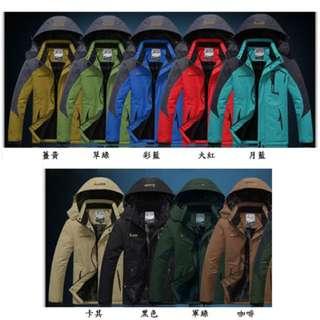 冬季保暖防風外套 - 男款