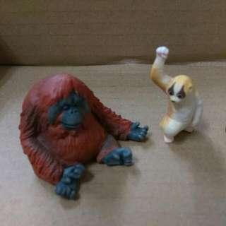 扭蛋。猩猩。果子貍