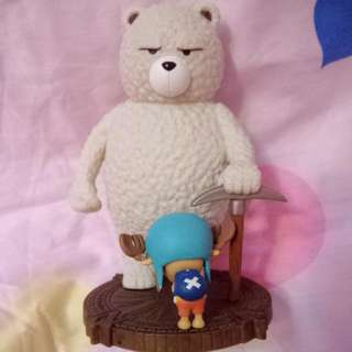 海賊王  一番賞 喬巴&登山熊