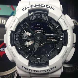 G-Shock GA-110 白銀黑