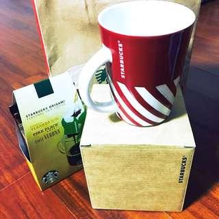 (全新含運)Starbucks12盎司馬克杯&耳掛式咖啡包