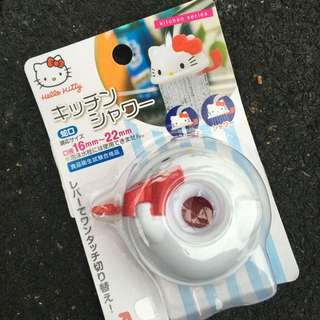 Hello Kitty 造型水龍頭套《白.紅蝴蝶結.大臉》