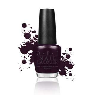 OPI_W42//全新指甲油//紫的發黑//$350