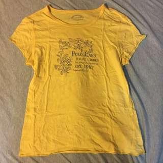 POLO 黃色短袖上衣 L