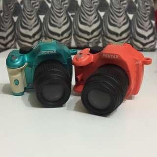 PENTAX 熱靴座 裝飾品 相機 扭蛋 橘 綠 相機