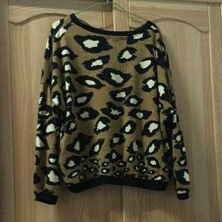 50%豹紋針織衣