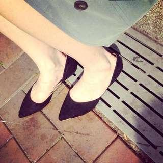 (全新) 韓版平底尖頭鞋 24cm