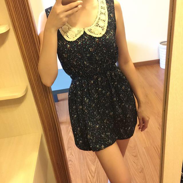 碎花連身裙/洋裝(無袖)