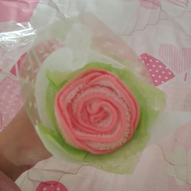 玫瑰造型毛巾
