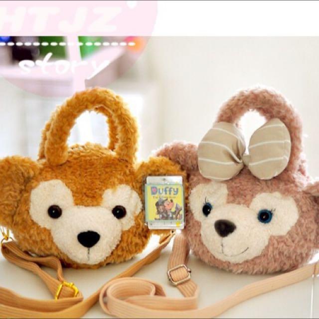 日本迪士尼 Duffy&Shelliemay 毛絨斜挎包 手提包