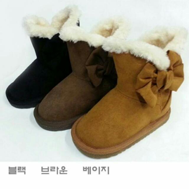 全新韓國babyzzam黑19cm雪靴