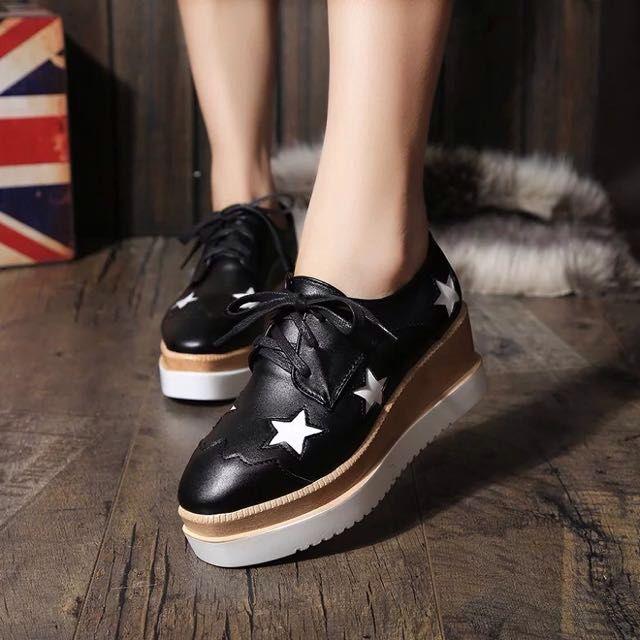 2998edc95b3 Black Star Platform Shoes(highly Sought!!)