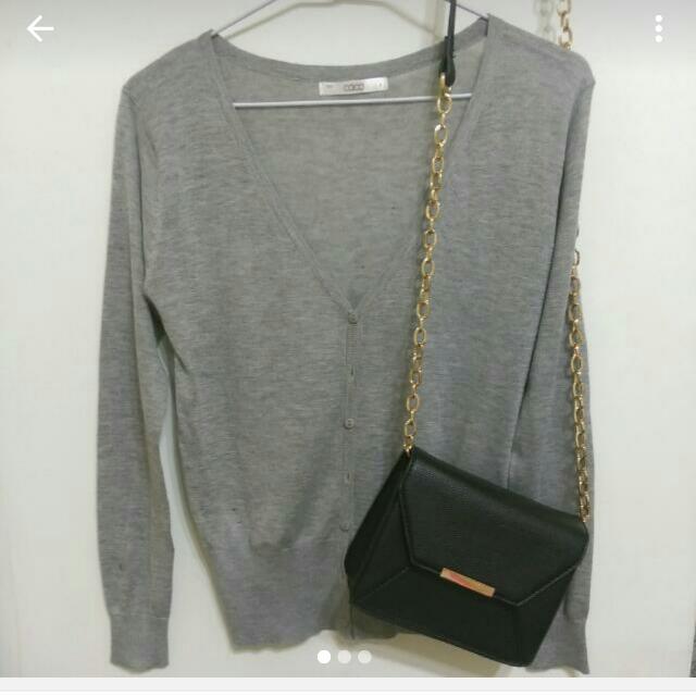 caco灰色針織外套