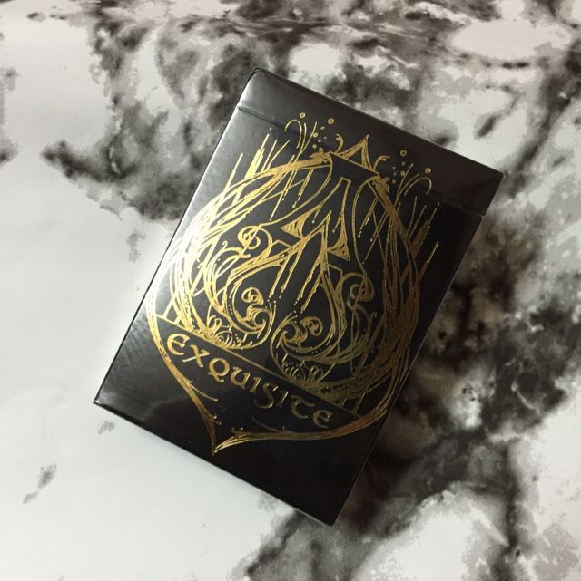 Black Exquisite Playing Cards Special Players Edition deck by De/'Vo