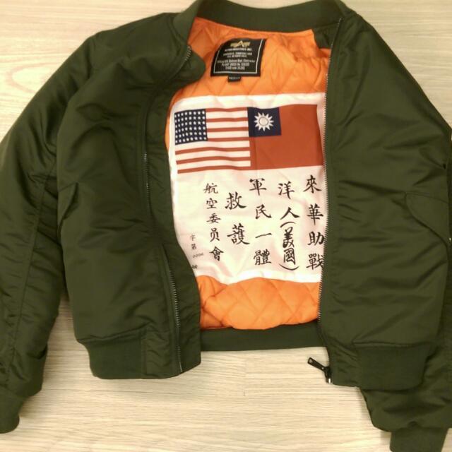 美國MA1 臺灣X美國  空軍飛行外套  來華助戰