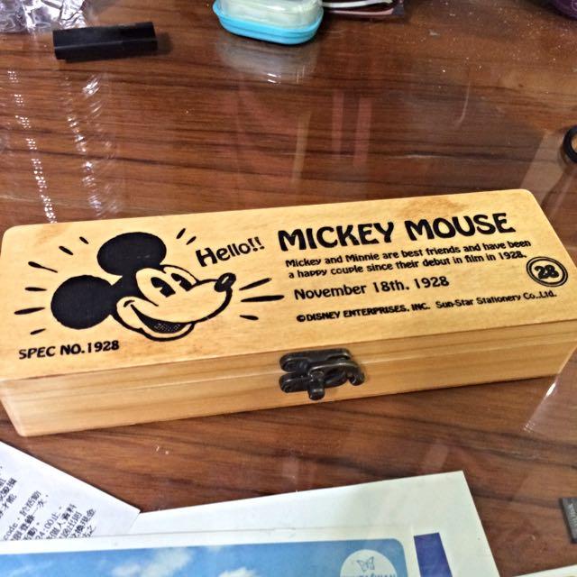 Mickey 木製盒 鉛筆盒