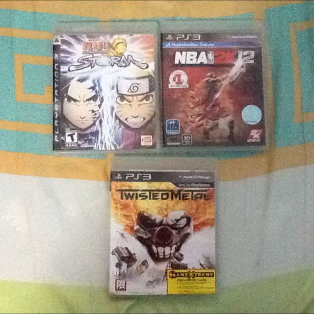 PS3 Games 3pcs For 30sg