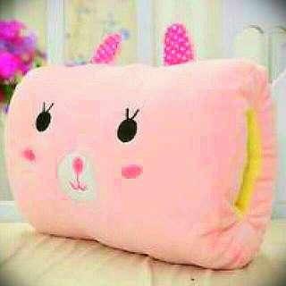 CUTE Pink Bear cushion ~ as pillow/hand warmer/back support