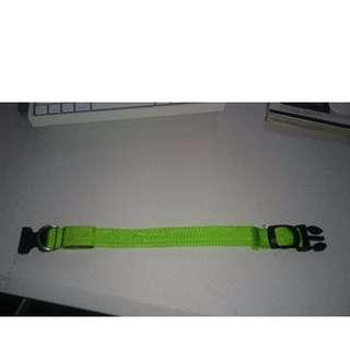 Medium Green Nylon LED Pet Collar