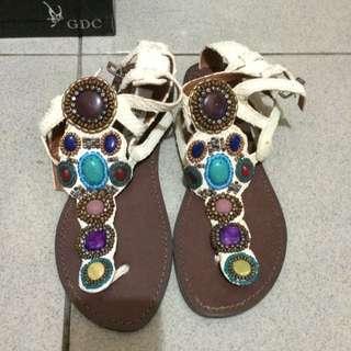全新民族風涼鞋