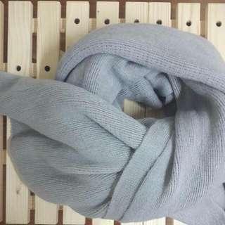 🔥【免運】超柔軟仿羊絨圍巾 氣質灰 (全新)