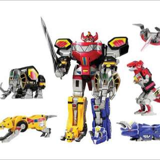 Power Rangers Legacy Megazords (Mega/Tiger/Dragon)