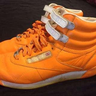Reebok Classic Orange Hi Top Sneakers