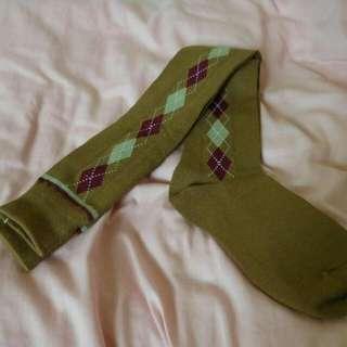 土黃色膝上襪