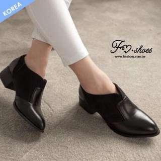 (保留)✨韓-英倫典範低跟紳士鞋。踝靴。短靴。