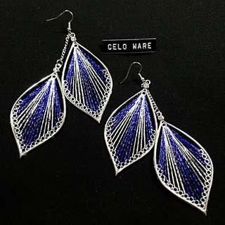歐美 帶鑽 線條 時尚耳勾式耳環 Earing / CELO WARE