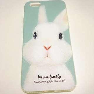 兔 手機殼 青色 iPhone 6 6s