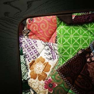 Hand Crafted Patchwork Laptop Case *Vintage* *Cloth* *Unique*