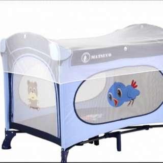 Matsuco 豪華收折式拱型嬰兒床/遊戲床